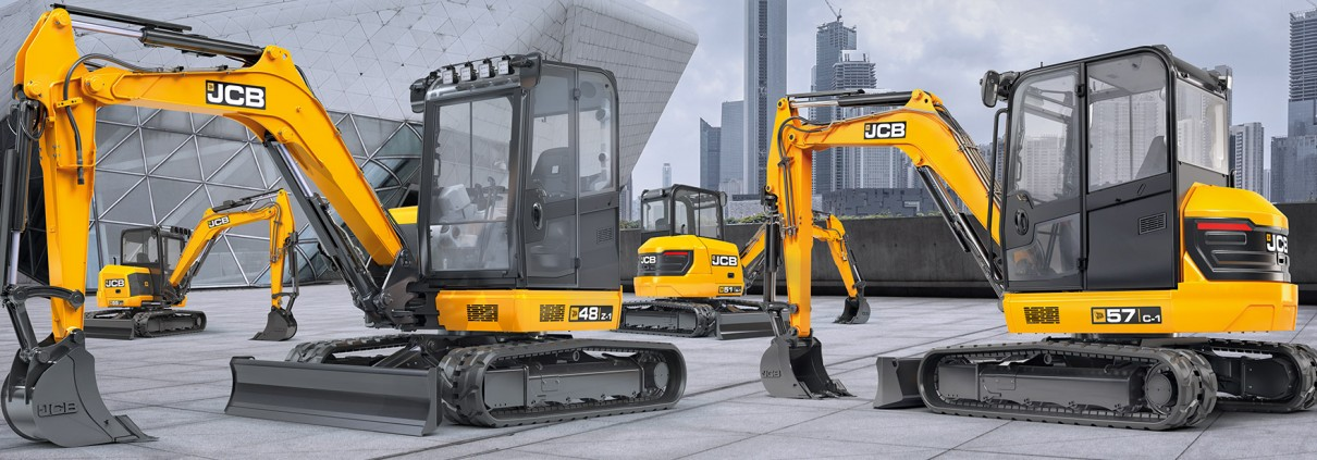 JCB 48Z, 51R, 55Z, 57C mini excavators