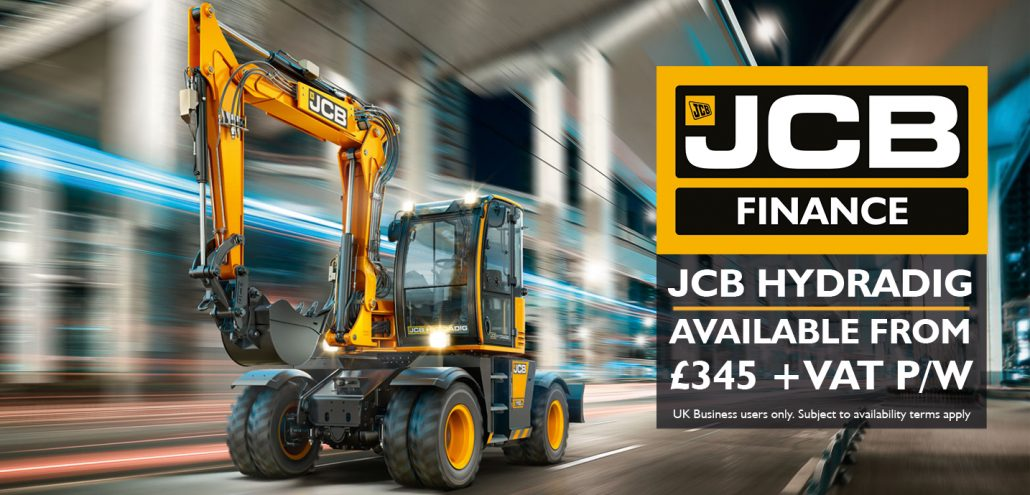 JCB Hydradig available from £345 per week