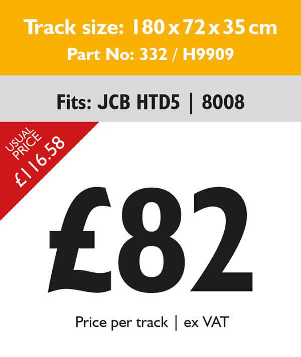 rubber tracks for jcb 8008