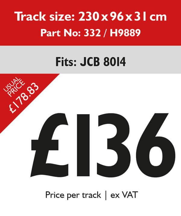 rubber tracks for jcb 8014