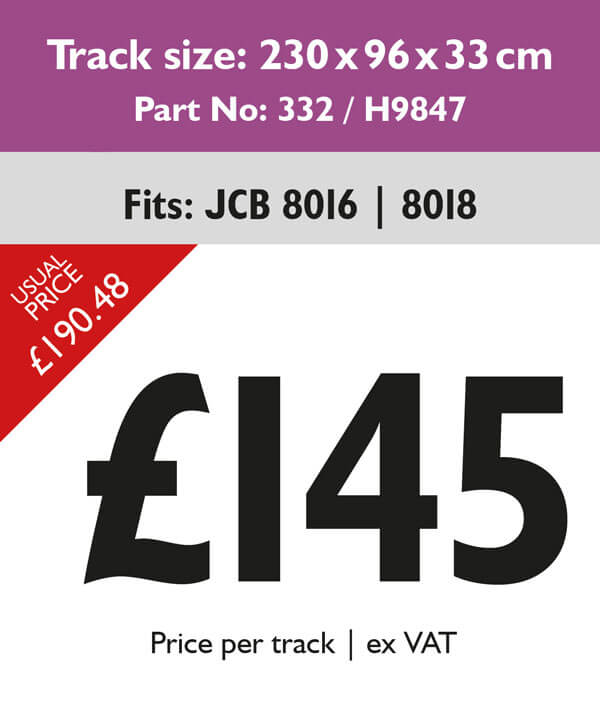 rubber tracks for jcb 8016 and 8018