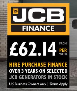 Own a JCB Generator from £62 14 per week | Greenshields JCB